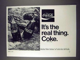 1971 Coca-Cola Soda Ad - It's The Real Thing Coke - $14.99