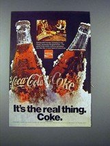 1971 Coca-Cola Soda Ad - It's Real Thing Coke - $14.99