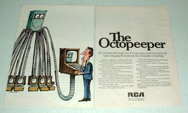 1970 RCA Computer Octopeeper Video Terminal Ad! - $14.99