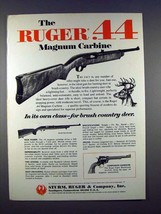 1971 Ruger .44 Magnum Carbine Rifle Ad - Its own Class! - $14.99
