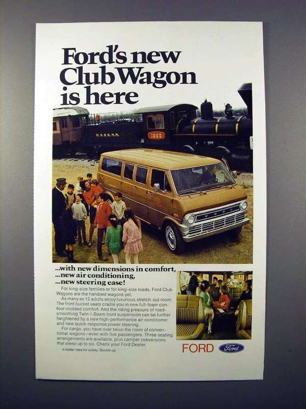 1971 Ford Club Wagon Ad - New Is Here!