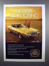 1972 Ford Gran Torino 2-Door Hardtop Car Ad! - $14.99