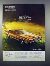 1971 Ford LTD Car Ad - Noise Level Risen 20% - $14.99