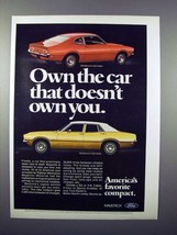 1972 Ford Maverick 2-Door & 4-Door Sedan Car Ad! - $14.99