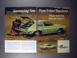 1971 Ford 3-Door Runabout Pinto Car Ad! - $14.99