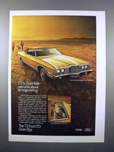 1972 Ford LTD Brougham 2-Door Hardtop Car Ad! - $14.99