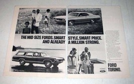 1971 Ford Torino 500 2-Door Hardtop, Squire Wagon Ad! - $14.99