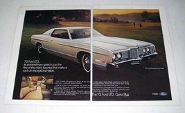 1972 2-page Ford LTD Brougham 2-Door Hardtop Car Ad! - $14.99