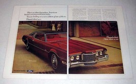 1972 Ford Thunderbird Car Ad - Legendary Luxury - $14.99