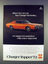1972 Dodge Charger Topper Car Ad - No Car Can Top - $14.99