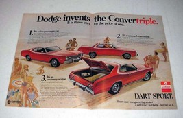 1972 Dodge Dart Sport Car Ad - Invents the Convertriple - $14.99