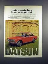 1972 Datsun 510 2-Door Sedan Car Ad - Secret - $14.99