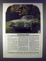 1972 Oldsmobile Ninety-Eight Car Ad - Exceptional - $14.99