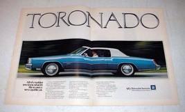 1973 2-page Oldsmobile Toronado Car Ad! - $14.99