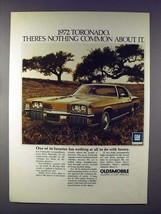 1972 Oldsmobile Toronado Car Ad - Nothing Common! - $14.99