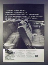 1972 Oldsmobile Cutlass Salon Car Ad! - $14.99