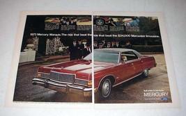 1973 Mercury Marquis Car Ad - Beat Mercedes Limousine - $14.99