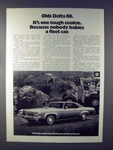 1973 Oldsmobile Delta 88 Car Ad - Tough Cookie - $14.99
