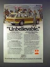 1976 Dodge Aspen Wagon Ad - Unbelievable! - $14.99