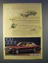 1978 Toyota Cressida Sedan Car Ad - Expensive! - $14.99