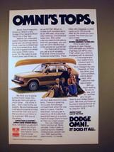 1978 Dodge Omni Car Ad - Omni's Tops! - $14.99