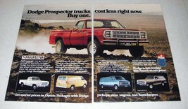 1979 Dodge Prospector Truck Ad - Cost Less Right Now! - $14.99