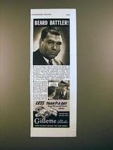 1938 Gillette Blades Ad w/ Jack Dempsey! - $14.99