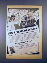 1947 Harley-Davidson Motorcycle Ad - Own! - $14.99