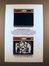 1965 Westinghouse Jet Set Television Ad - Doesn't Stare - $14.99