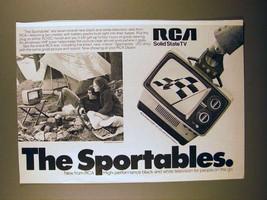 1975 RCA AU097 Portable Television Ad - The Sportables! - $14.99
