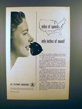 1949 Bell Telephone Ad - Miles of Speech! - $14.99