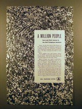 1951 Bell Telephone Ad - A Million People - $14.99