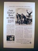1952 Bell Telephone Ad - Company of Marines Said Thanks - $14.99