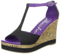 Skechers Cali Women's Bomb Shell Let's Groove Wedge Sandal,Black,10 M US - $49.45