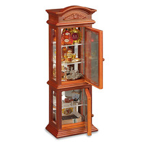 Dollhouse Miniature Reutter Porcelain Gentleman's Liquor Cabinet - $66.83