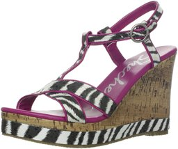 Skechers Cali Women's Bomb Shell Fantasia Wedge Sandal,Black,11 M US - $36.56