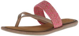 Skechers Cali Women's Indulge Wedge Sandal,Tan/Pink,10 M US - $36.58