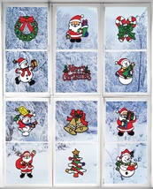 Christmas Sticker Decorations Holiday Window Sticker Clings 12 Pack New - ₨1,250.03 INR