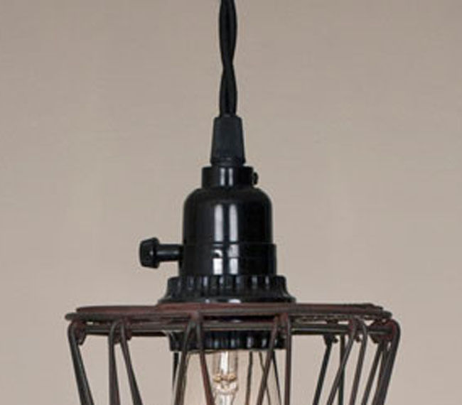 vintage french country rustic petal wire pendant light