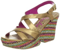 Skechers Cali Women's Full Moon Howl Wedge Sandal,Bronze,10 M US - $45.00