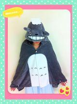Cute Kawaii Totoro Ghibli Soft Comfortable plush Costume Cloak Shawl Cap... - $13.99