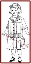 "Vintage/Antique  Box Pleated Dress Pattern for 16"" Doll - $5.99"
