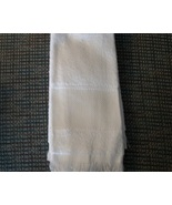 CLEARANCE White fingertip cross stitch towel  - $1.00
