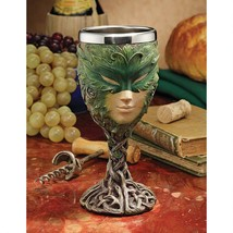 8 oz Stainless Steel Dishwasher Safe Greenman Lady Goblet Chalice - $43.51