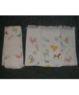 CLEARANCE Baby Pastel print cross stitch towel ... - $1.00