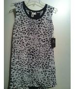 ROGAN NYC Target black white leopard print SHIFT DRESS 100% silk RARE sm... - $49.99