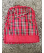 """Vintage Red Checkered Travel Bag, 14""""x13""""x3"""" - $24.99"""