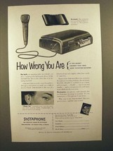 1952 Dictaphone Time-Master Dictacting Machine Ad - How Wrong - $14.99