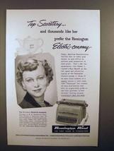 1952 Remington Rand Electri-conomy Typewriter Ad - Top Secretary - $14.99