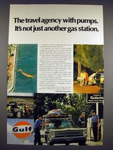 1968 Gulf Oil Ad - Not Just Another Gas Station - $14.99